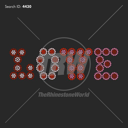 Love 76 Rhinestone Design - Download
