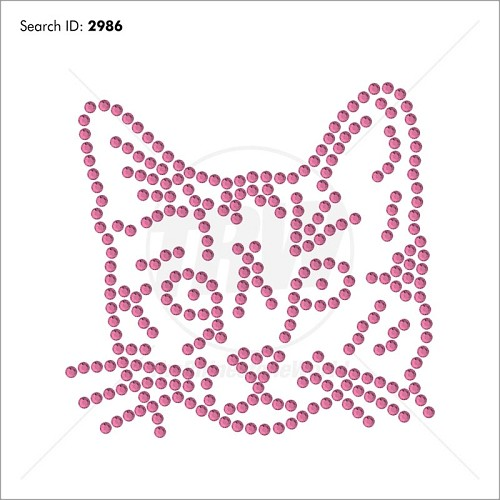 Love Cat Add-On Rhinestone Design Download - Download