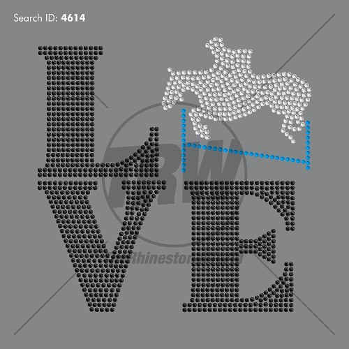 Love Equestrian Add-On Rhinestone Design - Download