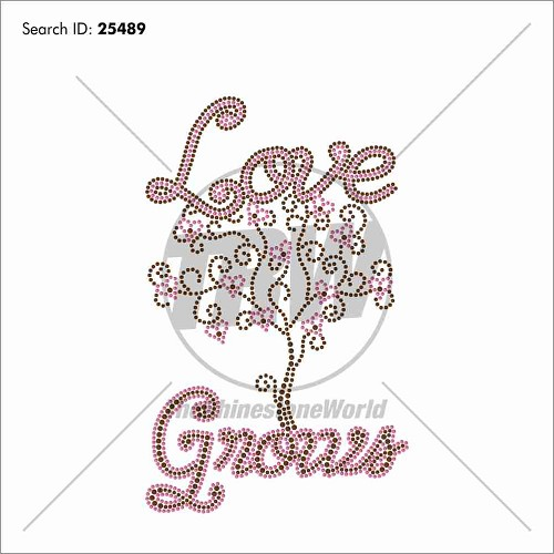 Love Grows Rhinestone Design Download - Download
