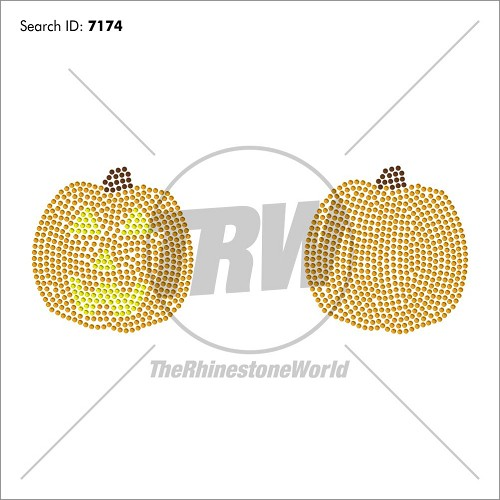 LOVE Pumpkin 2 Pack ADD-ON Rhinestone Design - Download