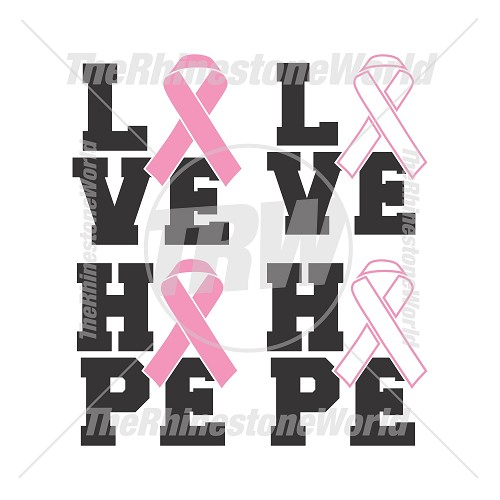 Love and Hope Cancer Ribbon Vector - Download