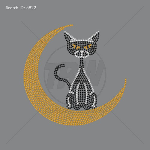 MOON CAT Rhinestone Design - Download