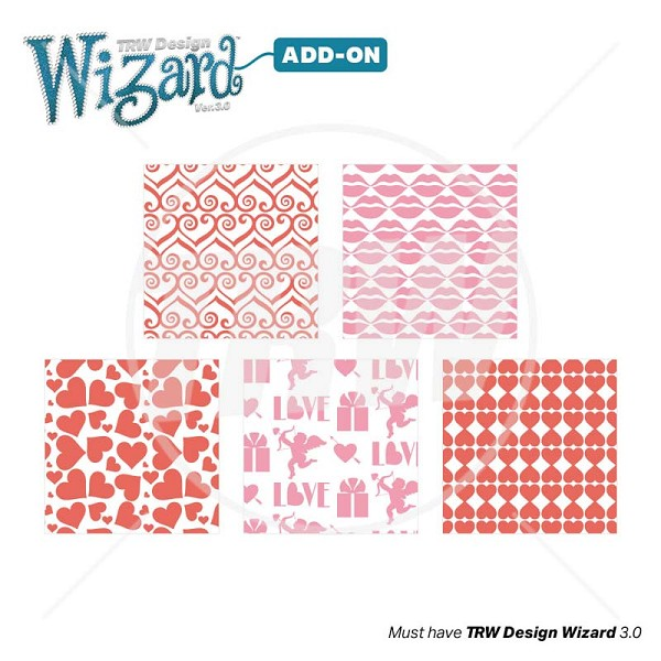 TRW Magic Pattern Pack Vol 20 Valentine for Design Wizard - Download