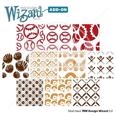 TRW Magic Pattern Pack Vol. 7 Baseball/Softball for TRW Design Wizard 3.0 - Download