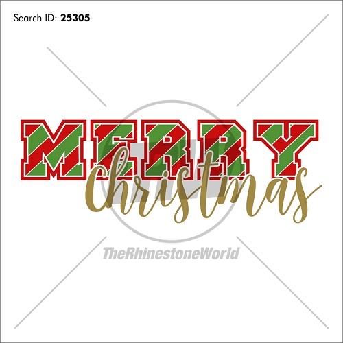 Merry Christmas Stripes Vector Design - Download