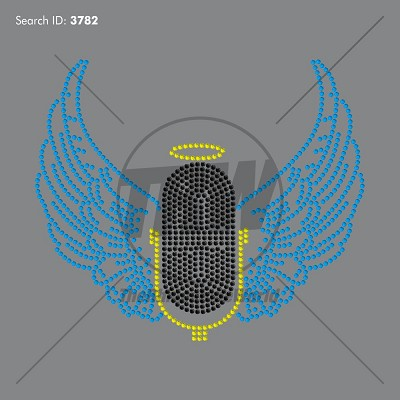Microphone with Wings Design - Download