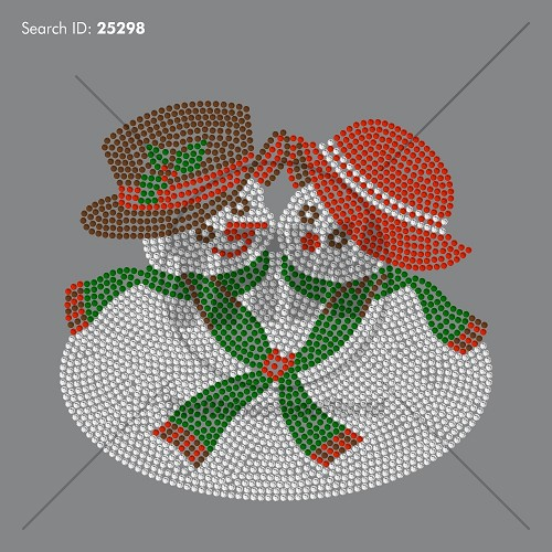 Mr and Mrs Snowman Rhinestone Design - Download