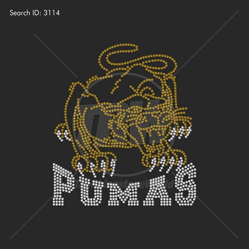 PUMAS 55 Rhinestone Design - Download