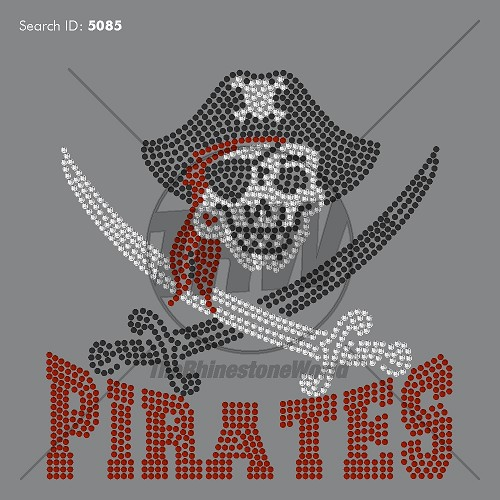 Pirates 55 Rhinestone Design - Pre-Cut Template
