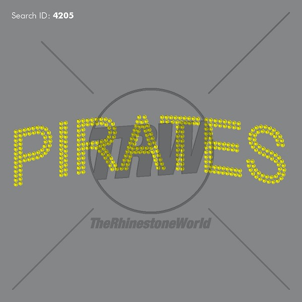 pirates mascot name rhinestone design pre cut template