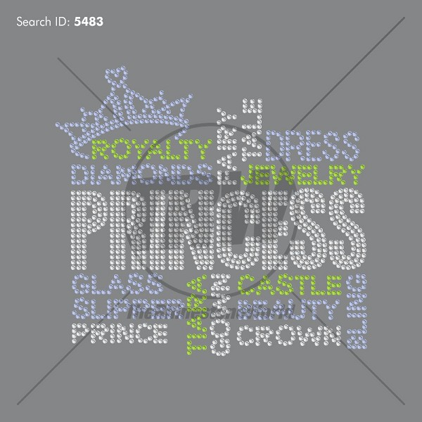 Princess Terms Rhinestone Design - Download