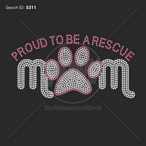 Rescue Mom Rhinestone Design - Download