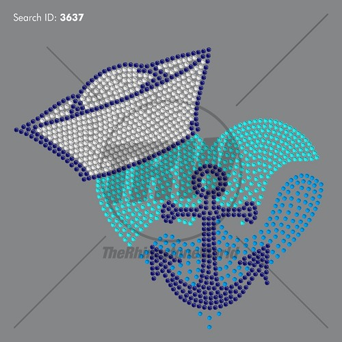 Sailor Heart Rhinestone Design - Download