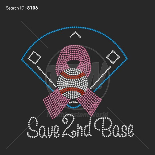 Save Second Base 3 Rhinestone Design - Download