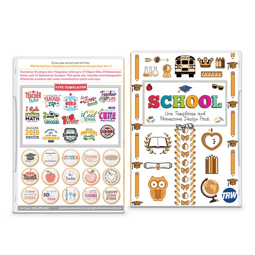 School Live Template and Rhinestone Design Pack Vol. 1
