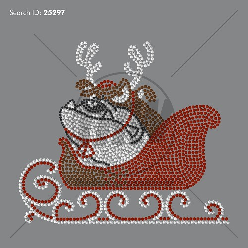 Sled Dog Rhinestone Design Download - Pre-Cut Template