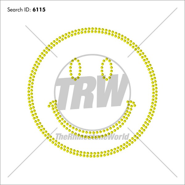 smile 1 design pre cut template