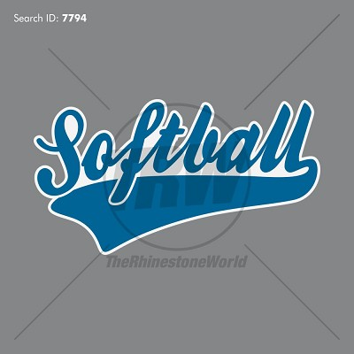 Softball Tail 2 Design - Download