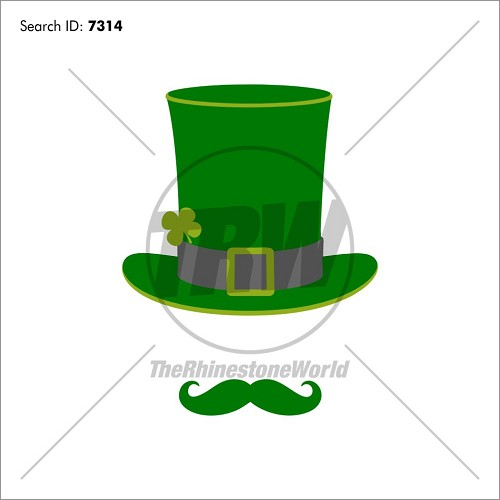 St. Patty's Day Mustache Design - Download