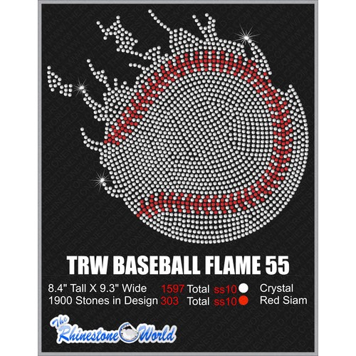 BASEBALL FLAME 55 Design  - Download