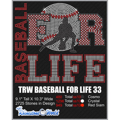 BASEBALL FOR LIFE 33 Design  - Download