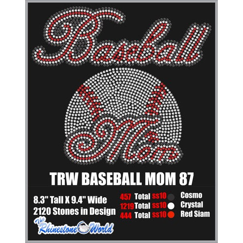 BASEBALL MOM 87 Design  - Download