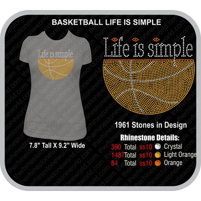 Basketball LIFE IS SIMPLE Design  - Download