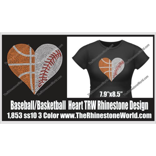 Basketball /Baseball Heart Design  - Download