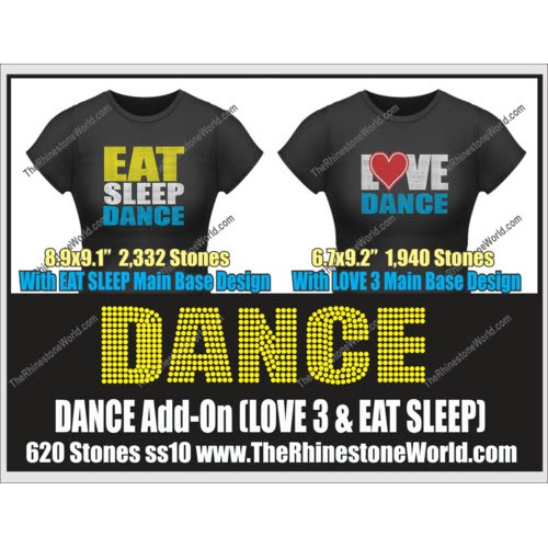 DANCE LOVE 3 & Eat Sleep Add-On Design  - Download