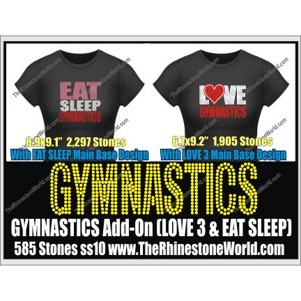 Gymnastics LOVE 3 & Eat Sleep Add-On Design  - Download