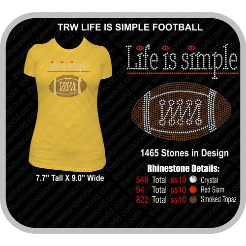 LIFE IS SIMPLE FOOTBALL Design  - Download