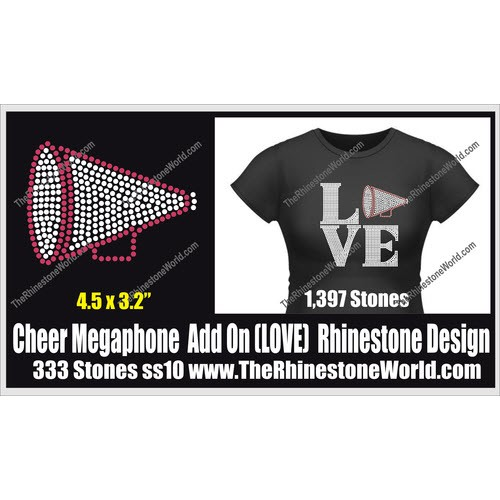 LOVE CHEER MEGAPHONE Add-On Design  - Download