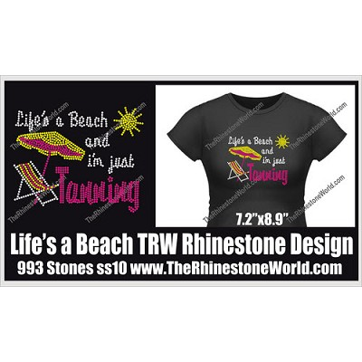 Life's a Beach and I'm just Tanning Design  - Download