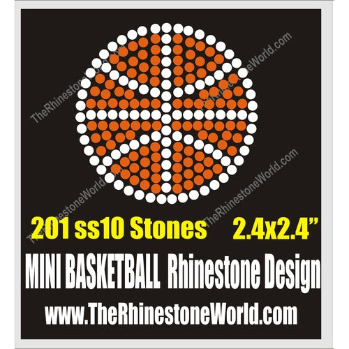MINI Basketball Rhinestone Design - Download