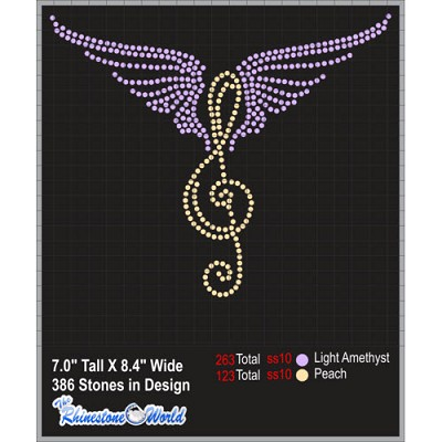MUSIC ANGEL Rhinestone Design - Download