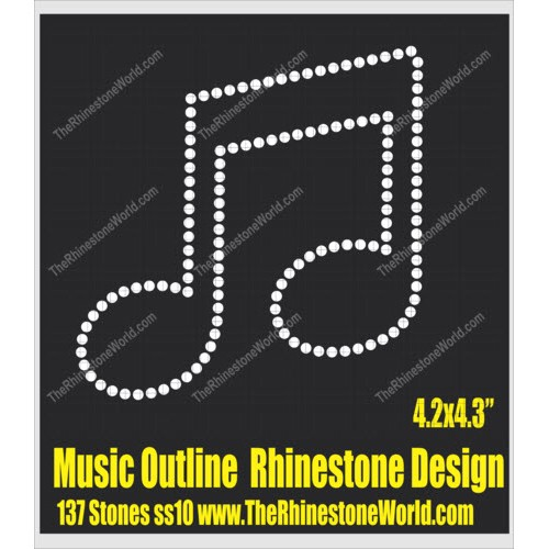 Music Note Outline Design  - Download
