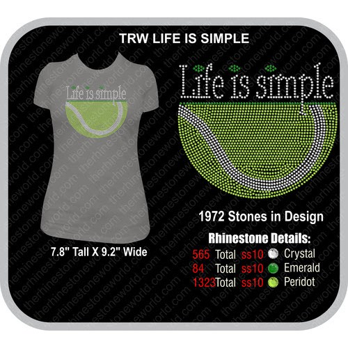TENNIS LIFE IS SIMPLE Design  - Download