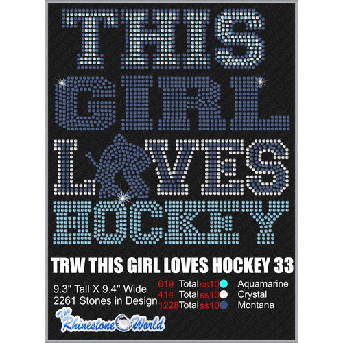 THIS GIRL LOVES HOCKEY 33 Design  - Download