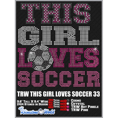 THIS GIRL LOVES SOCCER 33 Design  - Download