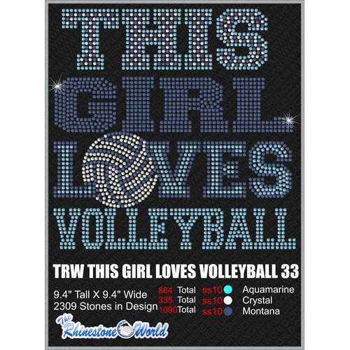 THIS GIRL LOVES VOLLEYBALL 33 Design  - Download