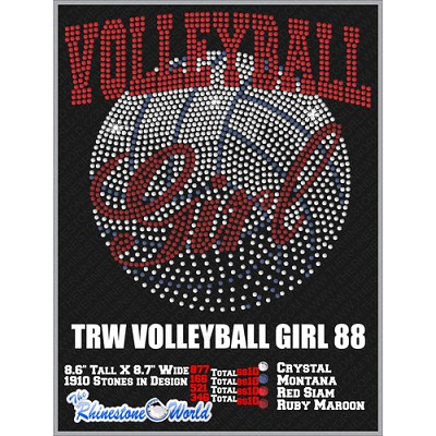 VOLLEYBALL GIRL 88 Design  - Download