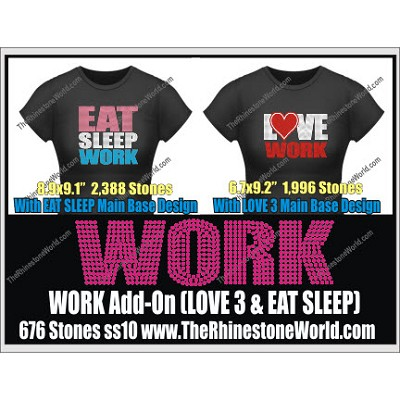 Work LOVE 3 & Eat Sleep Add-On Design  - Download