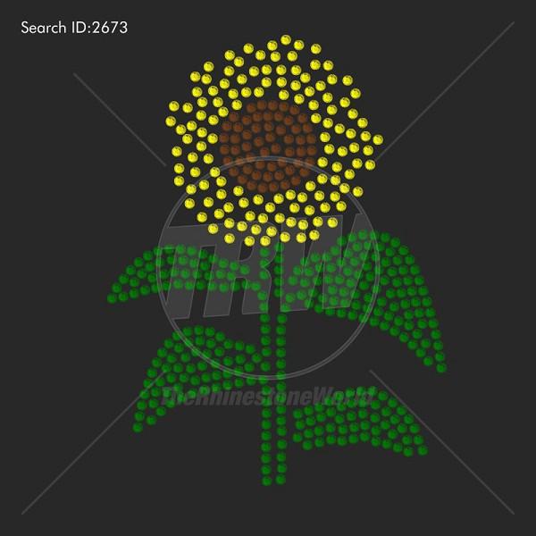 Sunflower Rhinestone Design Pre Cut Template