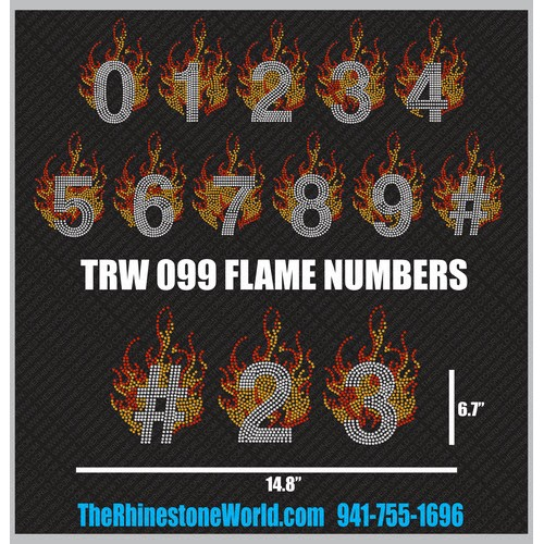 TRW 099 FLAME Numbers Design - Download