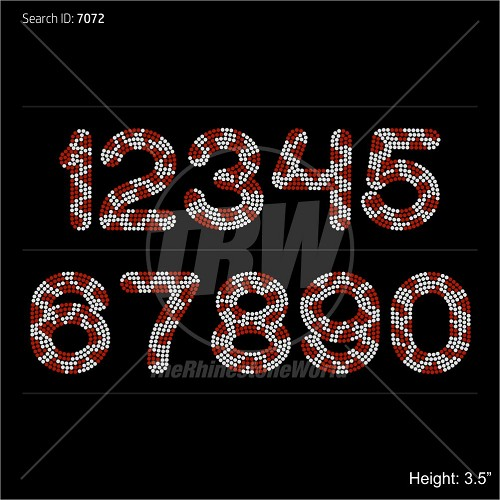 TRW 5003 B Animal Numbers Rhinestone TTF - Download