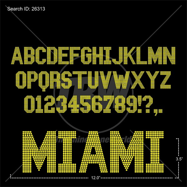 TRW 5028 Rhinestone Font - Download