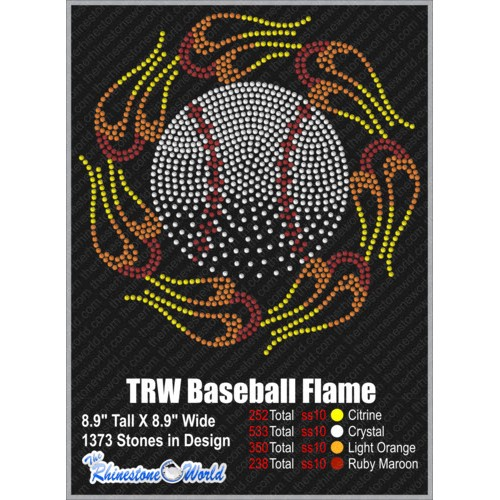 TRW BASEBALL FLAME Design W/ MOCKUP  - Download