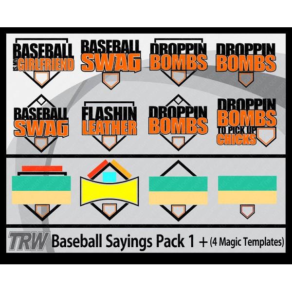 trw baseball softball sayings pack 1 4 magic templates download