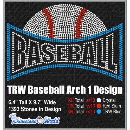 TRW Baseball and Softball Arch 1 Rhinestone design  - Download
